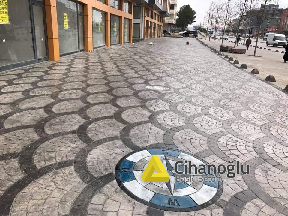 Adana Baskılı Beton Çalışması