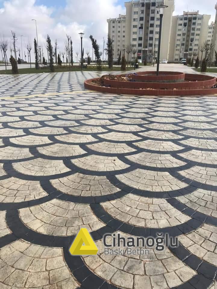 İstanbul Desenli Beton Çalışması