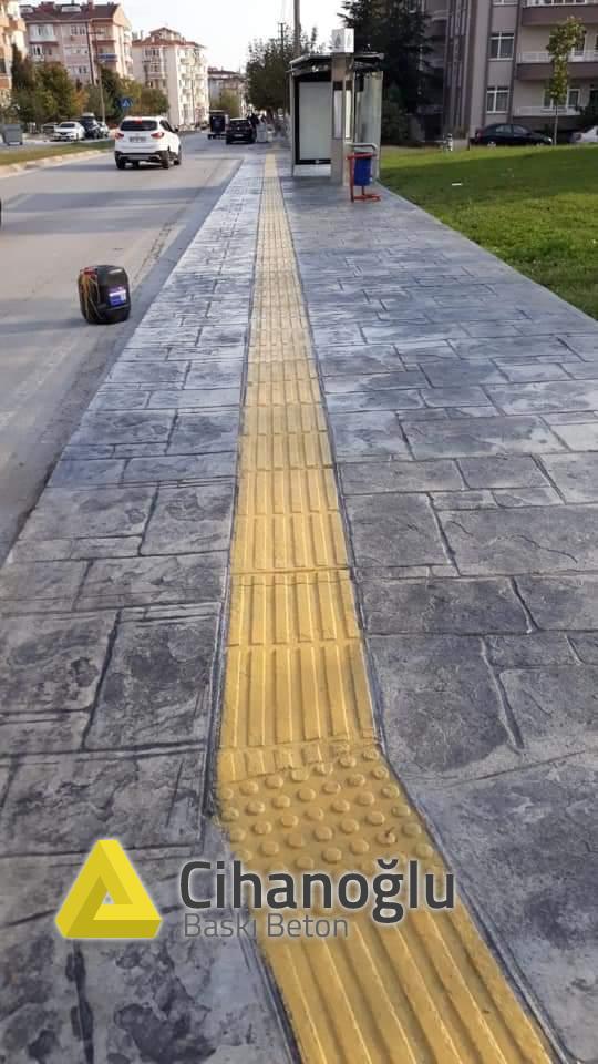 Edirne Yürüyüş Yolu Desenli Beton Uygulaması
